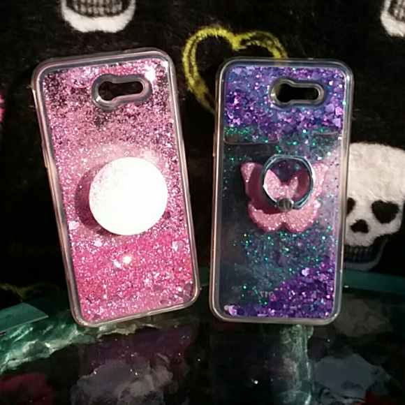 low priced 0c599 f0adc Accessories | Floating Glitter Phone Case Lot | Poshmark